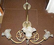 Four good quality decorative gilt wall lights -