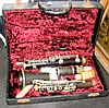 An old clarinet in fitted carrying case