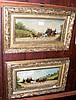 A pair of antique coaching paintings in decorative