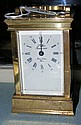 A French brass carriage clock time piece with