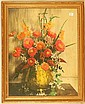 Wallace Nutting - A Cluster of Zinnias - Large Floral