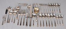 American Sterling Silver Flatware 40 assorted pieces: Six cocktail forks by George W. Shiebler & Co.--Seven demitasse spoons in the Modern Victorian pattern by Lunt--Six grapefruit spoons in the Abraham Lincoln pattern by Manchester Silver Co.,