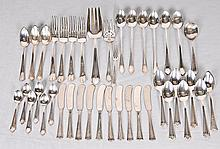 Assorted American Sterling Silver Flatware 40 total pieces: Four forks in the Georgian Garland pattern by Frank W. Smith, engraved with initial