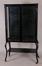 Painted Metal & Glass Medical Vitrine