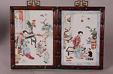 Pr. of Chinese Porcelain Plaques