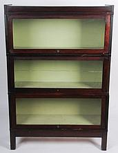 Three Section Barrister Bookcase