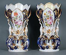 Pair Old Paris Vases