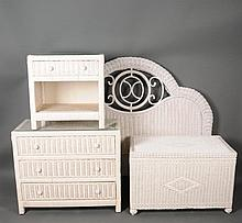 4 Pcs. White Wicker
