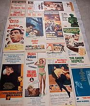 15 Original Insert Movie Posters + 2 Other