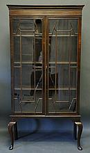 Fine 19th C. Mahogany Bookcase Cabinet