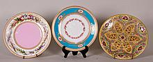 3 Royal Worcester Porcelain Plates
