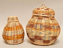 2 Signed Cherokee Baskets