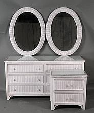 2 Henry Link Wicker + Pr. Mirrors
