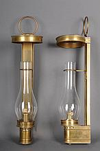 Pr. Brass Wall Lanterns