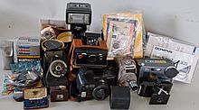 Lot of Vintage Cameras & Accessories