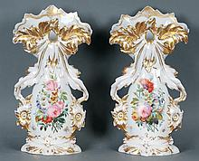 Pr. Monumental Old Paris Vases