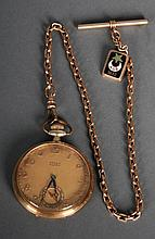 14kt Gold Gruen Verithin Pocket Watch
