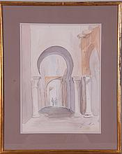 Watercolor of Entrance to Kasbah