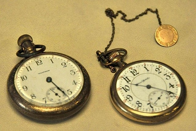 2 Pocket Watches--Illinois & Bartlett Waltham