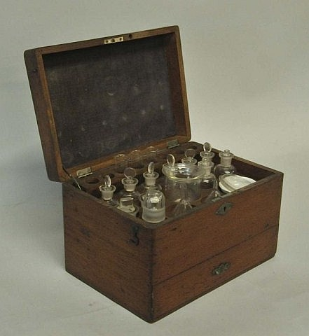 American Mahogany Apothecary Fitted Case