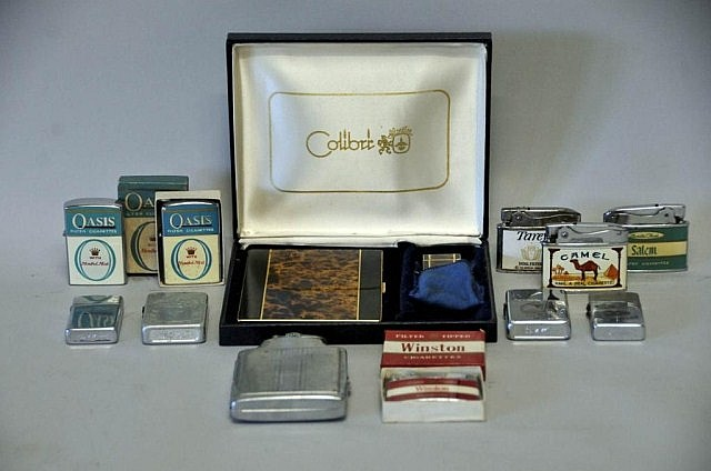 Collection of Cigarette Lighters & Cases