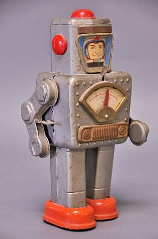 Japanese Tin Astronaut Wind-Up Toy