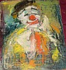 Jan De Ruth, Clown, Signed Oil on Board