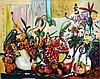Bracha Guy, Still Life W/Pears, Signed Oil on Canvas