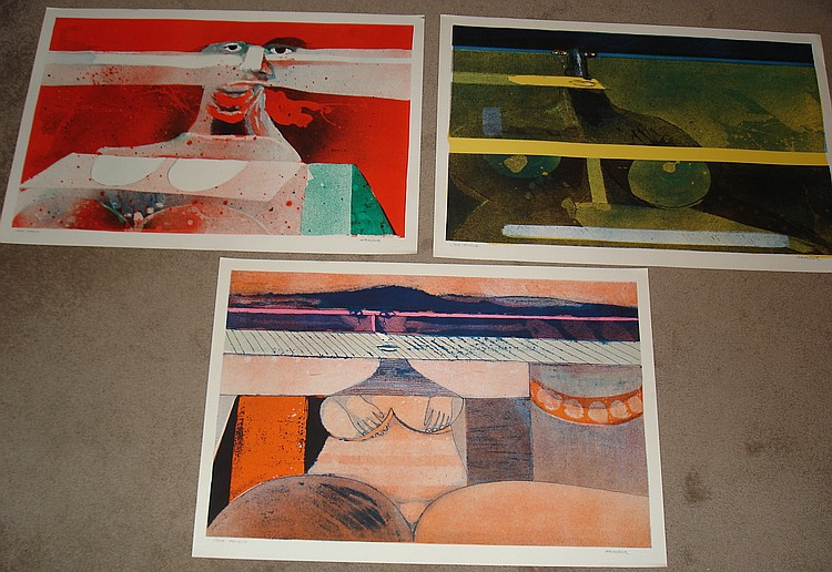 Hans Graeder, Suite of 3 Signed Lithographs