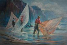 Huntington Daphne (American born 1926) Sea Sonata oil on canvas