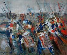 Toubon Guy (French 1931-)  Les Tambours De Valmy  oil on canvas