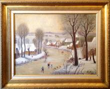 Moses Forrest King (American 1893-1974) Winter Landscape oil on canvas