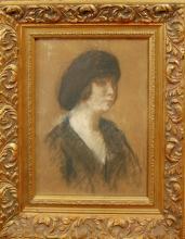 Kronberg Louis (American 1872-1965) Portrait pastel on paper