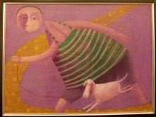 Vallejos Jorge (Peru 1965-)  multi-medium on canvas