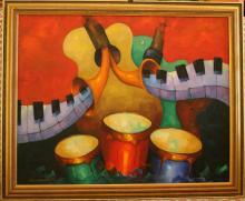 Niewoehner Everett (American born 1939) Musical Revelry