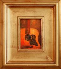 Niewoehner Everett (American born 1939) Gibson J-35 oil on canvas