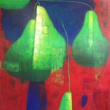 Vallejos Jorge (Peru 1965-) Pears oil on canvas