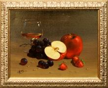 Still Life with Apples, oil on canvas