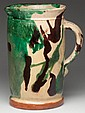 STRASBURG, SHENANDOAH VALLEY OF VIRGINIA EARTHENWARE / REDWARE PITCHER