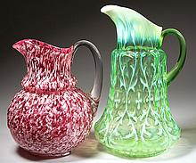 ASSORTED VICTORIAN WATER PITCHERS, LOT OF TWO