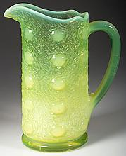 UNIDENTIFIED PRESSED GLASS PITCHER