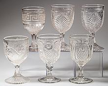 ASSORTED EAPG GOBLETS, LOT OF SIX