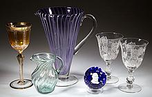 ASSORTED GLASS ARTICLES, LOT OF SIX