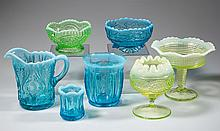 ASSORTED OPALESCENT GLASS ARTICLES, LOT OF SEVEN