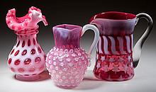 ASSORTED OPALESCENT PATTERN ARTICLES, LOT OF THREE