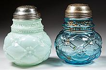QUILTED PHLOX SUGAR SHAKERS, LOT OF TWO
