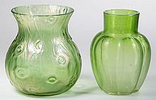 EUROPEAN ART GLASS VASES, LOT OF TWO