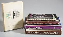 ASSORTED VICTORIAN, ART AND CONTEMPORARY GLASS REFERENCE VOLUMES, LOT OF TEN