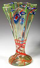 ART DECO DECORATED GLASS VASE