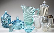 A. J. BEATTY OPALESCENT GLASS ARTICLES, LOT OF NINE